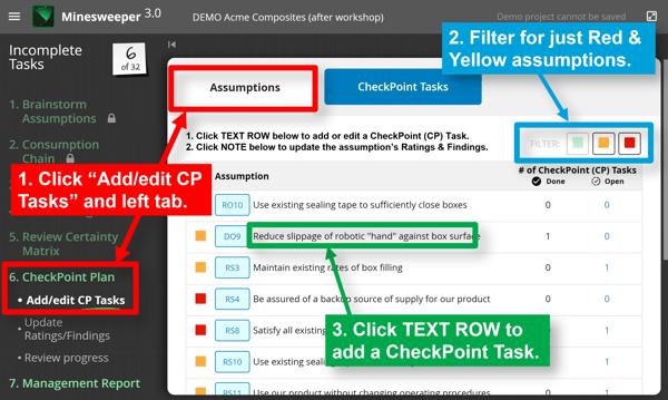 Adding CheckPoint Tasks