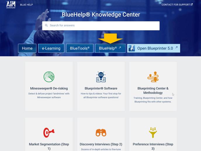 Blueprinting Center - BlueHelp
