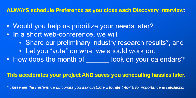 Schedule Preference during Discovery-1