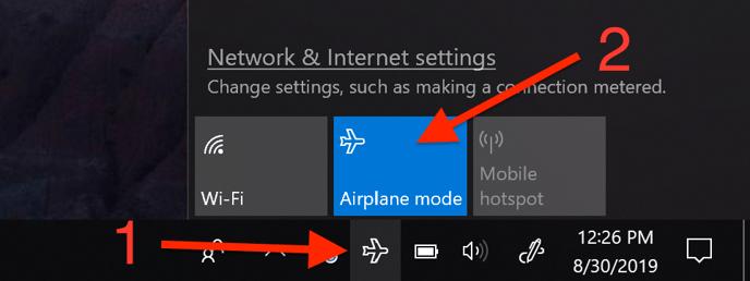 Win10 Airplane mode 4-1